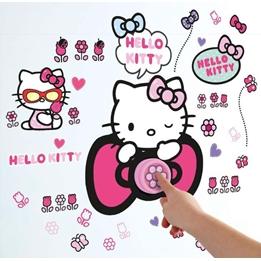 Hello Kitty - Helo Kitty Väggklistermärke Och Ringklocka