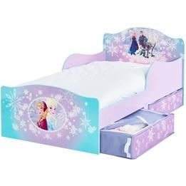 Disney Frozen - Juniorsäng - Elsa, Anna - Med sänglådor - Utan Madrass