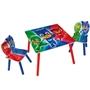 Worlds Apart - Pyjamashjältarna bord och stolar