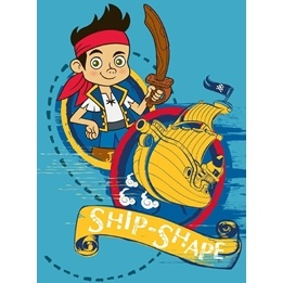 Disney - Barnmatta - Piraten Jake - Skepp - 133 x 95 cm