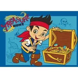 Disney - Barnmatta - Piraten Jake - Skatt - 133 x 95 cm