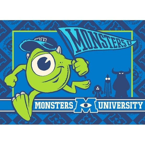 Disney - Barnmatta - Monsters University - 133 x 95 cm