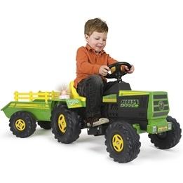Injusa - Traktor Med Släp Elbil 6V