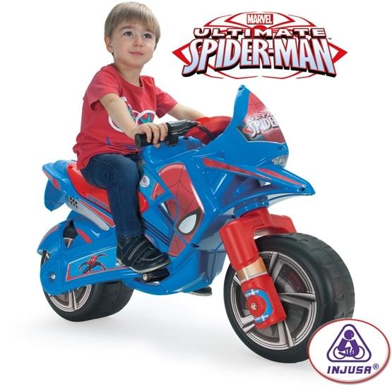 Injusa - Spiderman Elmotorcykel 6V