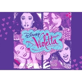 Disney - Barnmatta - Violetta 4 x - 133 x 95 cm