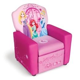 Delta Children - Disney Princess Fåtölj Med Utfällbar Fotpall