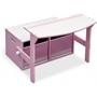 Worlds Apart - 3 i 1 bänk och bord - Rosa/Vit