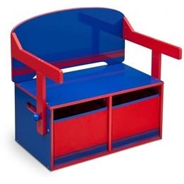 Worlds Apart - 3-i-1 bänk och bord - Blå/Röd