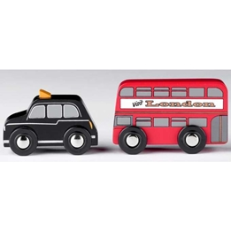 Tidlo - London Buss Och Bil Röd/Svart