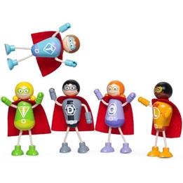 Tidlo - Superhjältar Med 5 Dockor