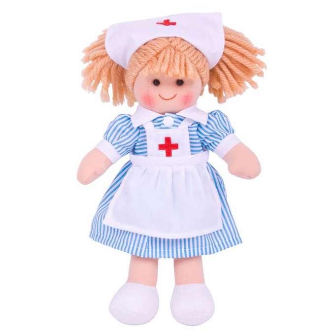 Bigjigs - Docka Sjuksköterska Nancy
