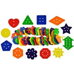 Bigjigs - Låda Med Geometrifigurer Och Siffror - 444 Delar