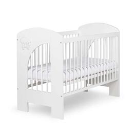 Eurotoys - Spjälsäng Baby Sky White 120X60 Cm