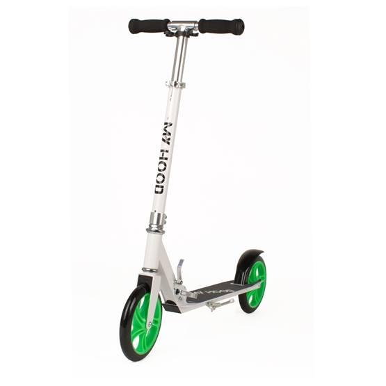 My Hood - Sparkcykel - 200 - Vit/Lime