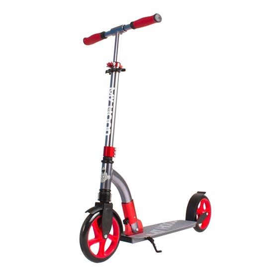 My Hood - Sparkcykel - Curve - Grå/Röd