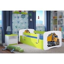 EuroToys - Juniorsäng Lastbil - Med madrass och förvaringslåda