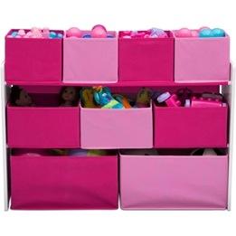 EuroToys - Förvaringshyllor med lådor - Rosa