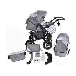 Barnvagn - Lirdo Kombi - Pink/Grey