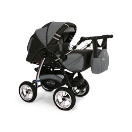 Baby Merc - Agat 2 In 1 Kombi Barnvagnar - Grå
