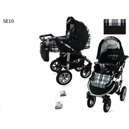 Saturn Duo Barnvagnar 3 In 1- Rutig