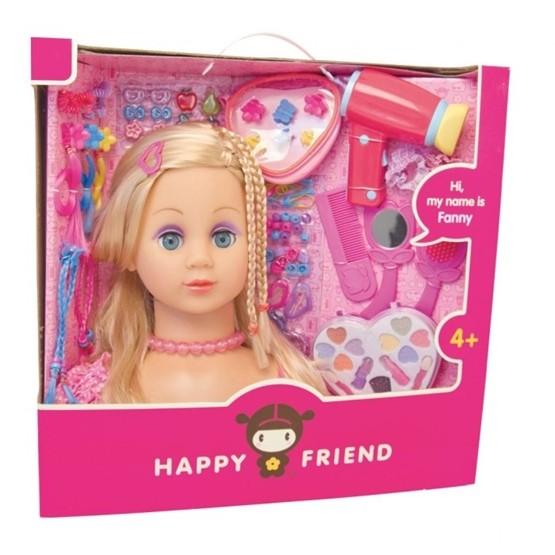 Happy Friend, Frisyr och sminkhuvud, Blond