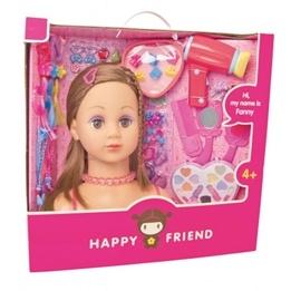Happy Friend, Frisyr och sminkhuvud, Brunett