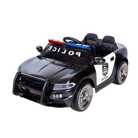 Elbil - Polisbil m. ljud och ljus