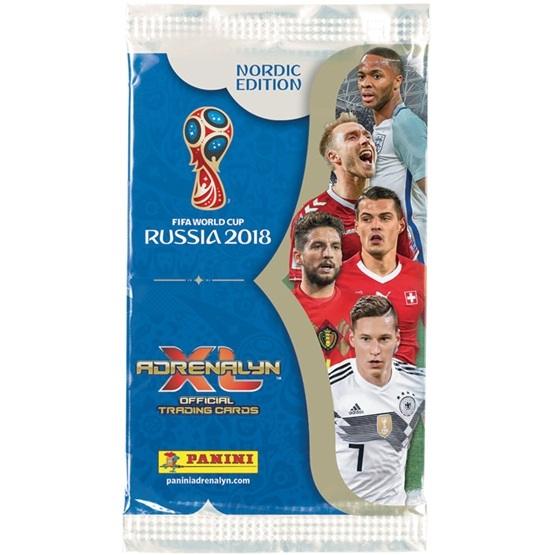 Fotbollskort - 1st Paket - Nordic Edition Panini Adrenalyn XL World Cup 2018