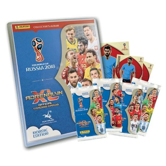Fotbollskort - 1st Startpaket - Nordic Edition Panini Adrenalyn XL World Cup 2018