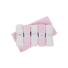 CuddleCo - Comfi-Love Tvättlappar Bambu Rosa