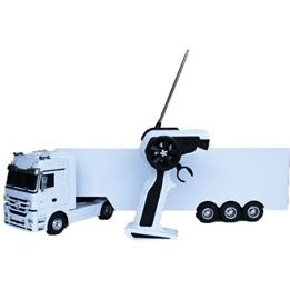 Jamara - Radiostyrd lastbil Vit  Jamara Mercedes Actros Tipper 1:33