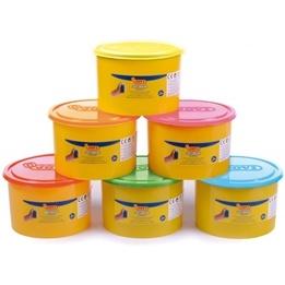 Jovi - Leklera Soft Dough Blandiver - 6 x 460 Gram - Neon