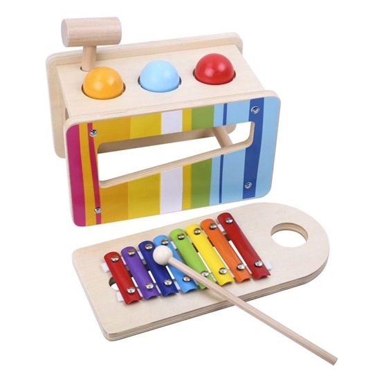 Tooky Toy - Musiklåda I Trä, Slaginstrument Tooky Toy