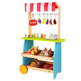Tooky Toy - Marknadsstånd I Trä - Affär