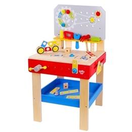 Tooky Toy - Arbetsbänk För BarnI Trä