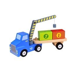 Tooky Toy - Lastbil Med Containrar Och Magnetkran