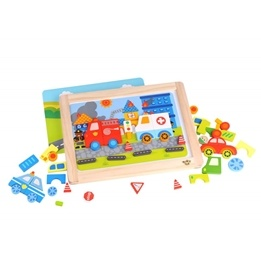 Tooky Toy - Pussel Med Magneter, Fordon