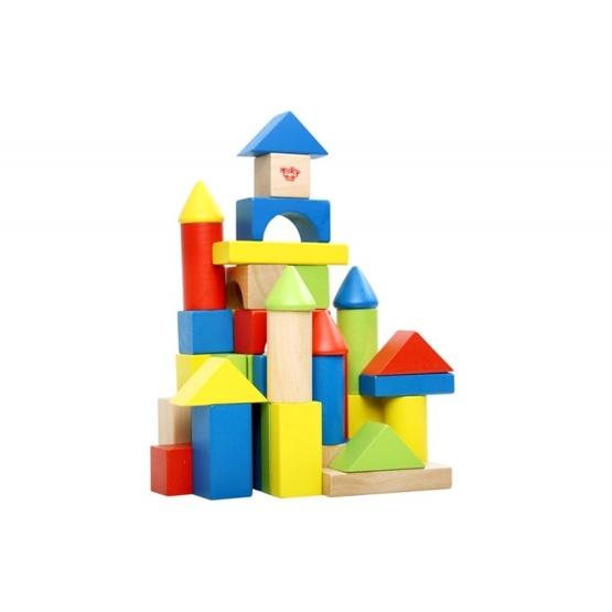 Tooky Toy - Färgglada Byggklossar Paket Med 50 Delar Tooky Toy