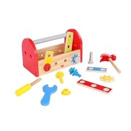 Tooky Toy - Verktygslåda I Trä - 18 Delar
