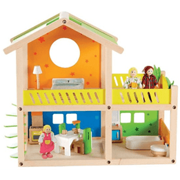 Woodi World Toy - Dockhus Fantasy Med Dockor