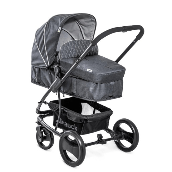 Hauck - Pacific 4 Duovagn Med Babyskydd - Grå Melange