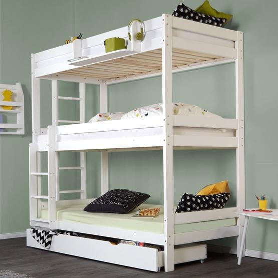 Våningssäng Tre Sängar 200x90 Cm