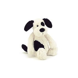 Jellycat - Bashful Black And Cream Puppy