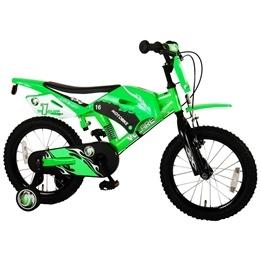 "Volare - Motor Bike 16"" - 95% Grön - Dubbla Handbromsar"