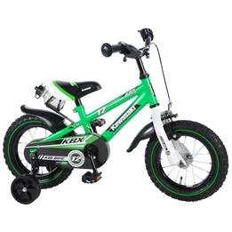 Barncykel Volare 12 tum Kawasaki - Stödhjul, flaskhållare