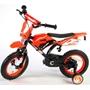 Barncykel Volare Motocross 12 tum - Stödhjul (Orange)