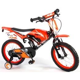 """Volare - Motor Bike 16"""" 95% Orange - Dubbla Handbromsar"""