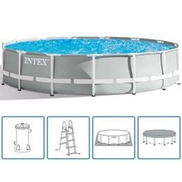 Intex Pool PRISM 457x122cm Inkl. Filterpump och Tillbehör