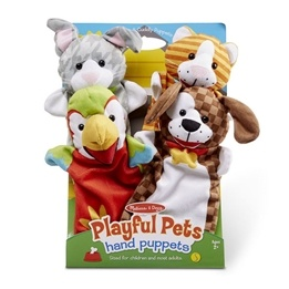 Melissa & Doug Handdockor lekfulla husdjur