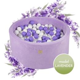 Meow Baby - Bollhav Lavendel Med 250 bollar - Lila - 40 Cm